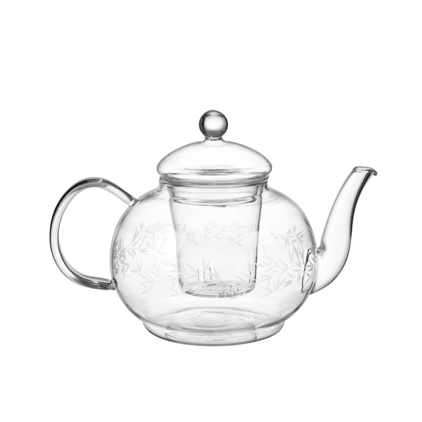 투명 유리 티팟  SB ETCHED GLASS TEAPOT