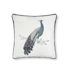 피콕 비즈 쿠션 PEACOCK BEADED CUSHION