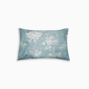 바이올렛타 덕에그 베개커버  VIOLETTA PRINTED DUCK EGG OX PILLOWCASE