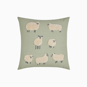양 자수 쿠션  SHEEP EMBROIDERED CUSHION
