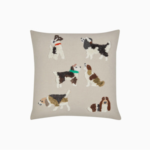 강아지 자수 쿠션  DOGS EMBROIDERED CUSHION