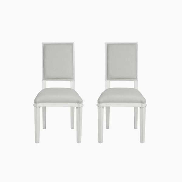 핸쇼우 페일스틸 식탁의자  HENSHAW PALE STEEL PAIR OF DINING CHAIRS
