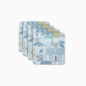 하버하우스 컵받침세트  HARBOUR HOUSES CORKBACK COASTERS SET OF 4
