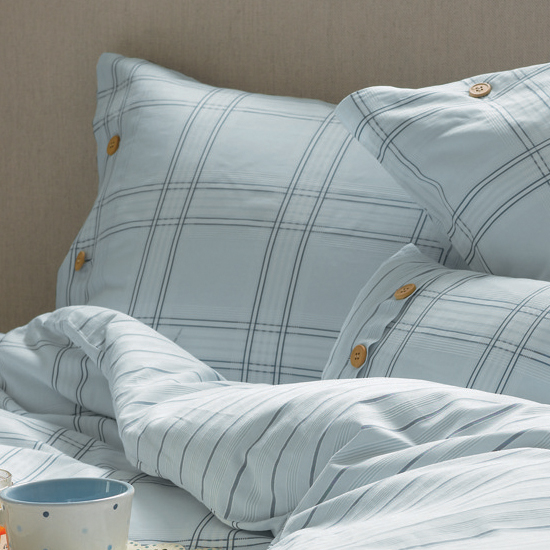 켄코트 블루 베개커버(HW) Kencot Check Blue Housewife Pillowcase